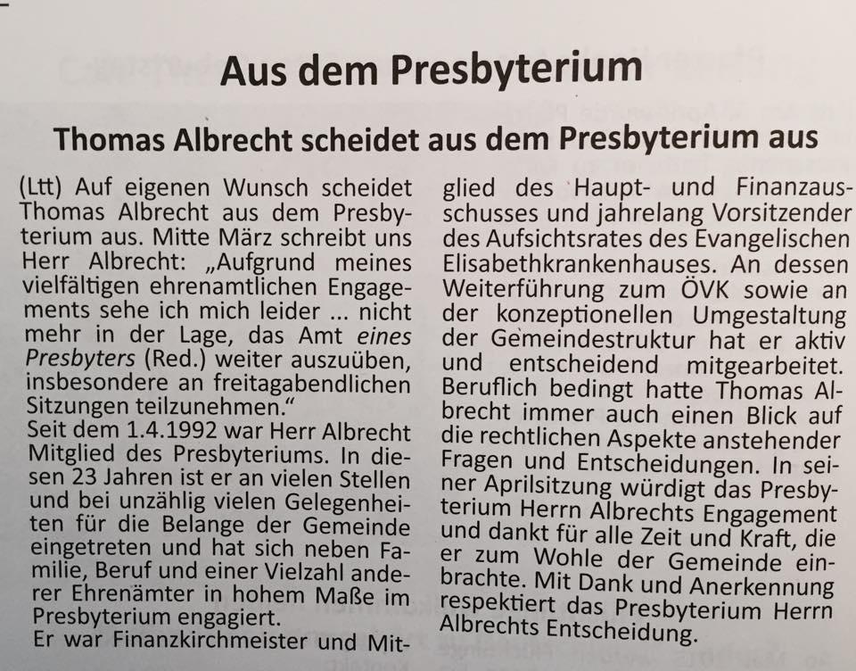 Presbyteramt